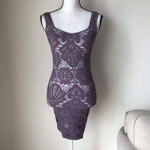Free People Lavender Medallion Slip Dress